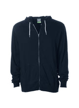 Load image into Gallery viewer, Lightweight Slim Fit Navy Blue Zip Hoodie