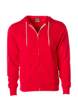 Load image into Gallery viewer, Lightweight Slim Fit Red Zip Hoodie