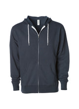 Load image into Gallery viewer, Lightweight Slim Fit Slate Blue Zip Hoodie