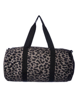 Load image into Gallery viewer, Cheetah print duffel travel bag with with shoulder strap