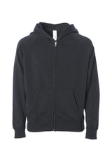 Load image into Gallery viewer, Toddler Lightweight Ultra Soft Black Zip Up Hoodie