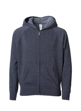 Load image into Gallery viewer, Toddler Lightweight Ultra Soft Midnight Blue Zip Up Hoodie