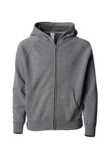 Load image into Gallery viewer, Toddler Lightweight Ultra Soft Nickel Grey Zip Up Hoodie