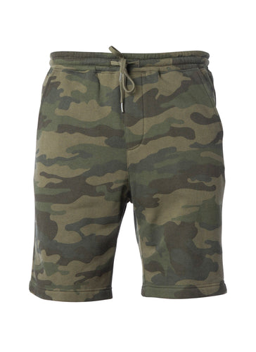 Mens Fleece Army Camo Jogger Sweatshorts