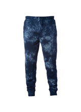 Load image into Gallery viewer, Mens Navy Blue Tie Dye Sweatpants With Pockets