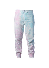 Load image into Gallery viewer, Mens Cotton Candy Pink And Baby Blue Tie Dye Sweatpants With Pockets
