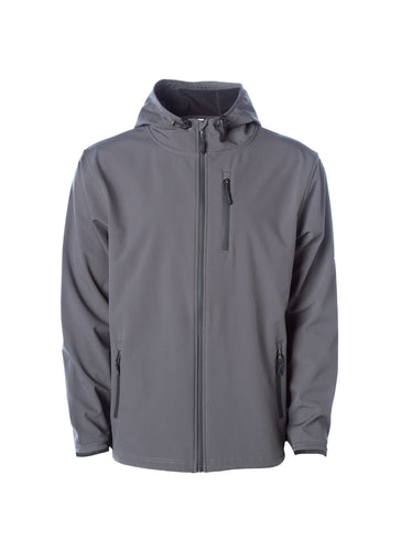 Mens Water Resistant Full Zip Graphite Grey Softshell Jacket