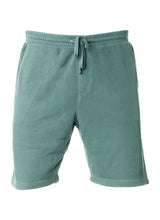 Load image into Gallery viewer, Mens Sweatshorts Pigment Dyed Alpine Green Fleece Shorts