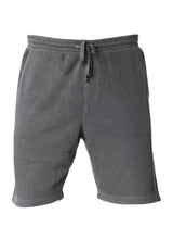Load image into Gallery viewer, Mens Sweatshorts Pigment Dyed Black Fleece Shorts