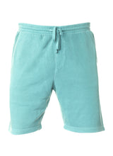 Load image into Gallery viewer, Mens Sweatshorts Pigment Dyed Mint Fleece Shorts