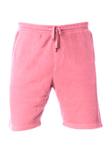 Load image into Gallery viewer, Mens Sweatshorts Pigment Dyed Pink Fleece Shorts