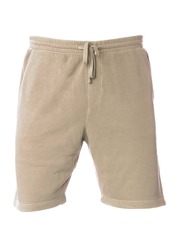 Mens Sweatshorts Pigment Dyed Sandstone Fleece Shorts