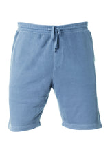 Load image into Gallery viewer, Mens Sweatshorts Pigment Dyed Slate Blue Fleece Shorts