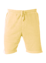 Load image into Gallery viewer, Mens Sweatshorts Pigment Dyed Yellow Fleece Shorts