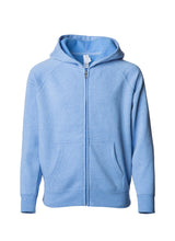 Load image into Gallery viewer, Toddler Lightweight Ultra Soft Sky Heather Zip Up Hoodie