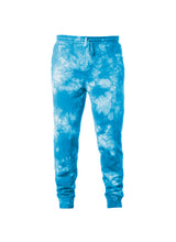 Load image into Gallery viewer, Mens Aqua Blue Tie Dye Sweatpants With Pockets