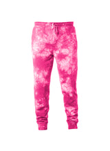 Load image into Gallery viewer, Mens Bright Pink Tie Dye Sweatpants With Pockets