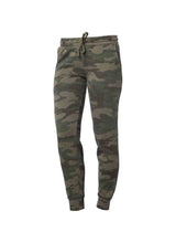 Load image into Gallery viewer, Womens Fleece Forrest Camo Heather Jogger Pants