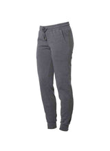 Load image into Gallery viewer, Womens Fleece Shadow Grey Jogger Pants