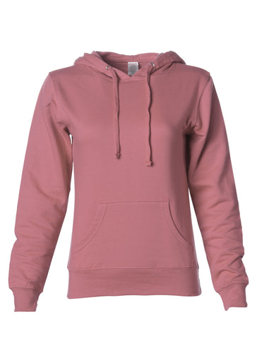 Womens Lightweight Rose Pullover Hoodie
