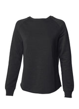 Load image into Gallery viewer, Women's Color Washed Ultra Soft Vintage Black Crew Sweatshirt