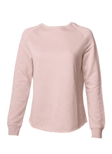 Load image into Gallery viewer, Women's Color Washed Ultra Soft Vintage Blush Crew Sweatshirt