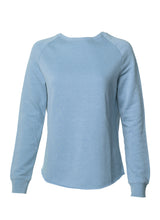 Load image into Gallery viewer, Women's Color Washed Ultra Soft Vintage Misty Blue Crew Sweatshirt