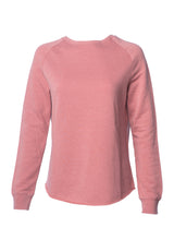 Load image into Gallery viewer, Women's Color Washed Ultra Soft Vintage Rose Crew Sweatshirt