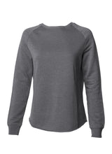 Load image into Gallery viewer, Women's Color Washed Ultra Soft Vintage Shadow Grey Crew Sweatshirt