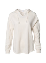 Load image into Gallery viewer, Women's Color Washed Ultra Soft V-Neck Bone Pullover Vintage Hoodie