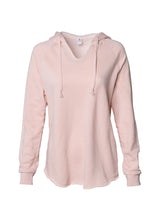 Load image into Gallery viewer, Women's Color Washed Ultra Soft V-Neck Blush Pullover Vintage Hoodie