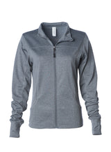 Load image into Gallery viewer, Women's Lightweight Slim Fit Grey Gunmetal Heather Yoga Jacket