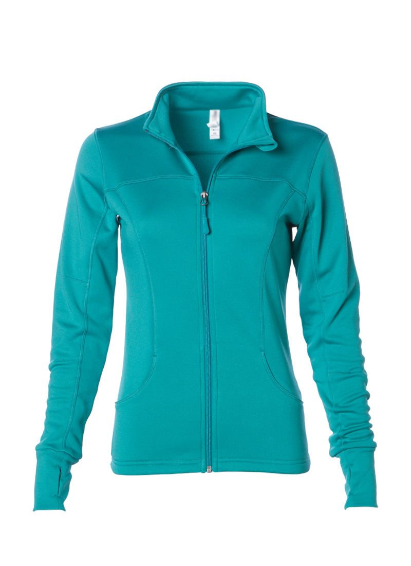 Women's Lightweight Slim Fit Teal Yoga Jacket