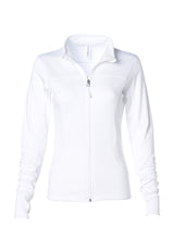 Load image into Gallery viewer, Women's Lightweight Slim Fit White Yoga Jacket
