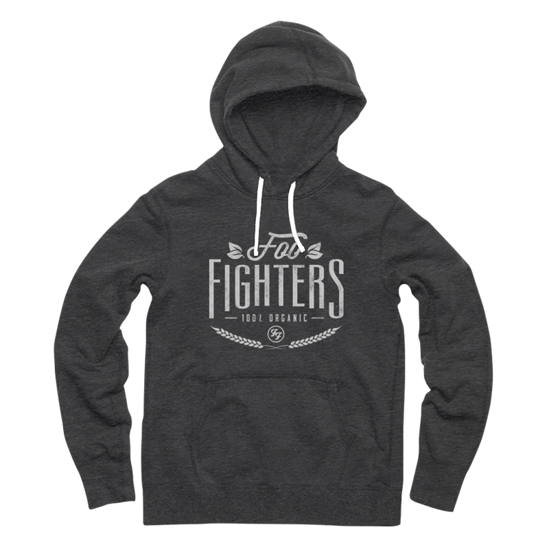 Organic Pullover Hoodie (Charcoal Heather) - Foo Fighters