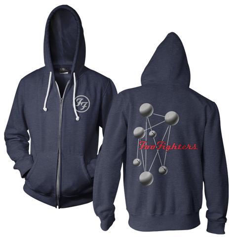 Molecules Hoodie (Navy Heather)