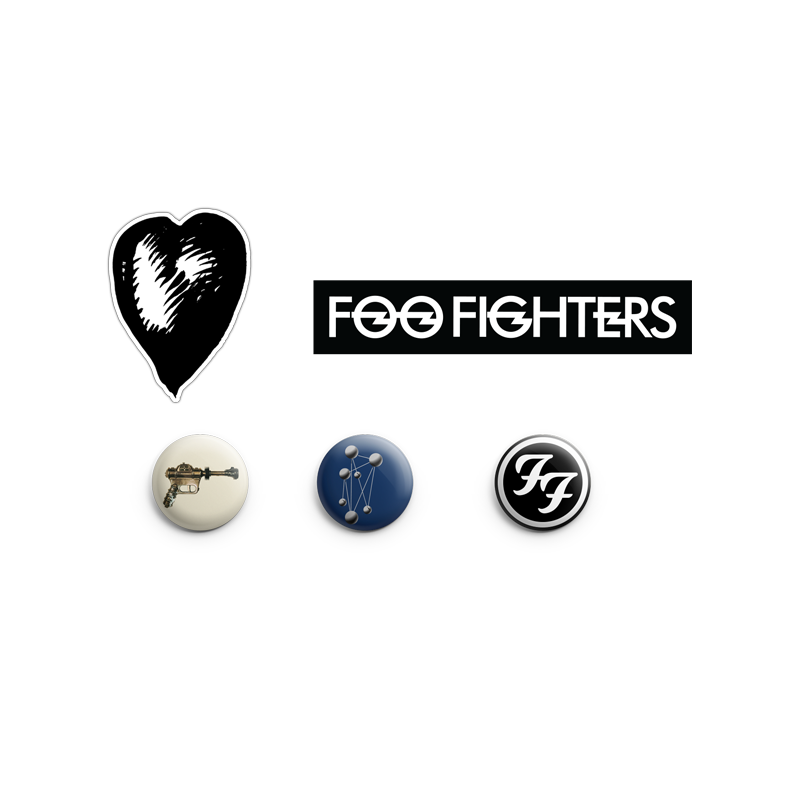 Album Cover Button and Sticker Pack - Foo Fighters