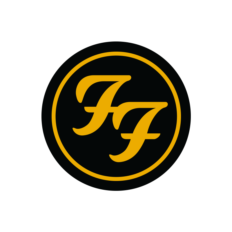 Black Circle Logo Patch - Foo Fighters