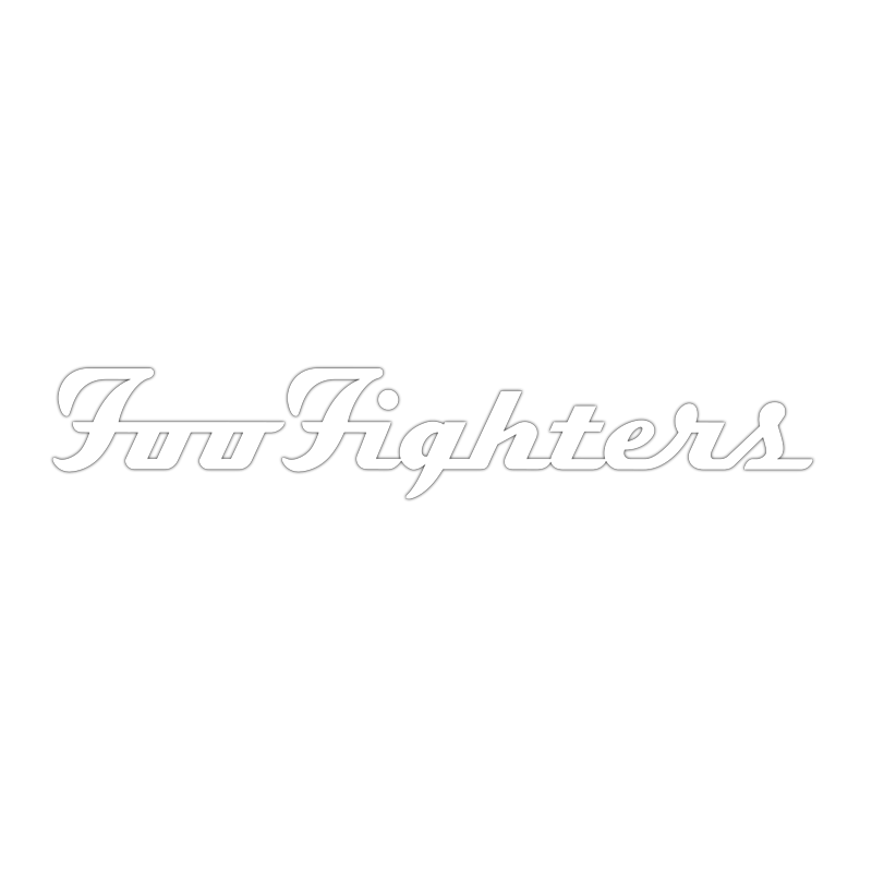 Foo Fighters White Decal - Foo Fighters