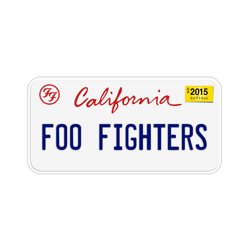 California License Plate - Foo Fighters