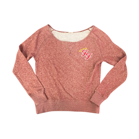 Little Angels Off Shoulder Sweater (Red)
