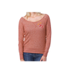 Little Angels Off Shoulder Sweater (Red) - Foo Fighters - 2