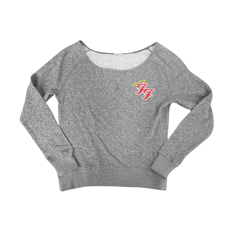 Little Angels Off Shoulder Sweater (Grey) - Foo Fighters