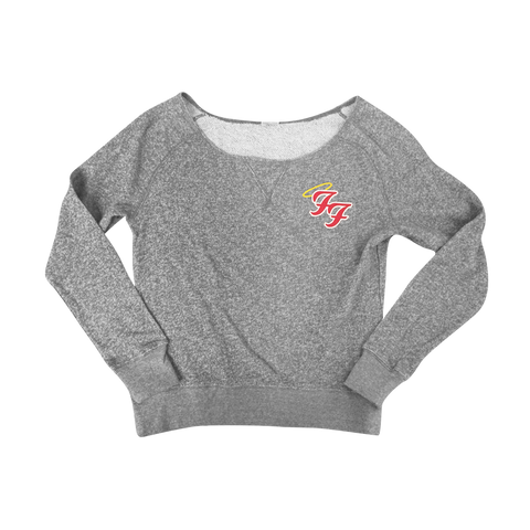 Little Angels Off Shoulder Sweater (Grey)