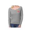 Little Angels Off Shoulder Sweater (Grey) - Foo Fighters - 2