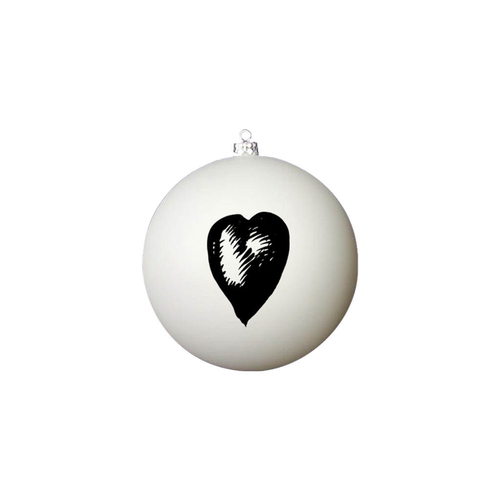 One by One (Heart) White Ornament