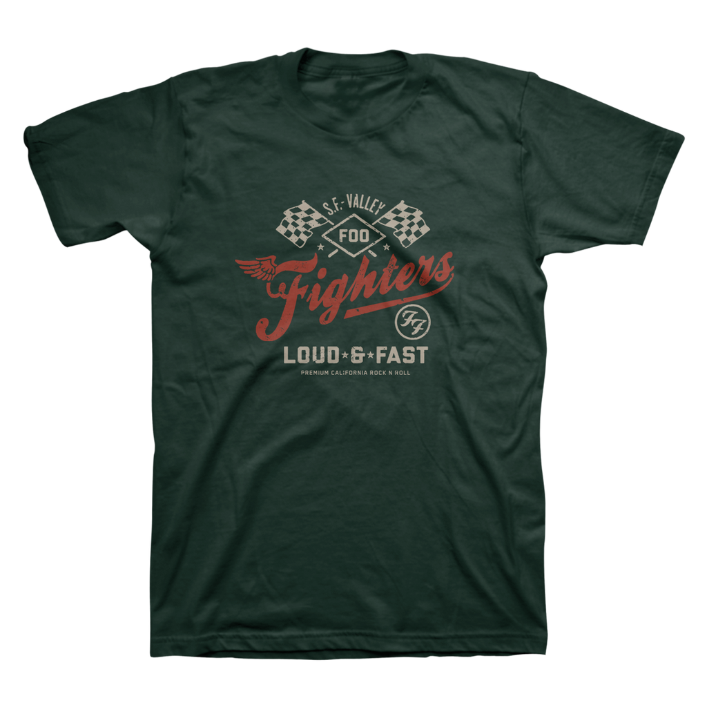 Loud & Fast Unisex Tee (Military Green)