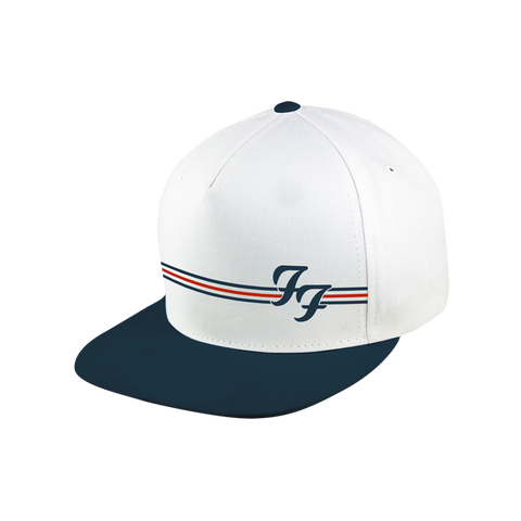 White and Navy Snapback Hat