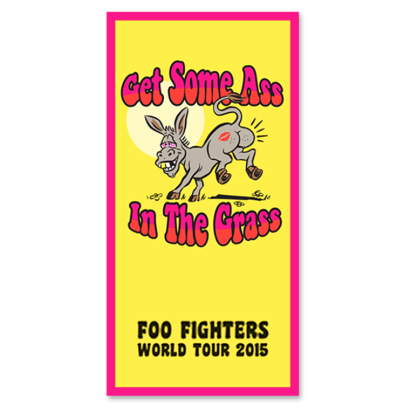 Ass In The Grass Beach Towel - Foo Fighters