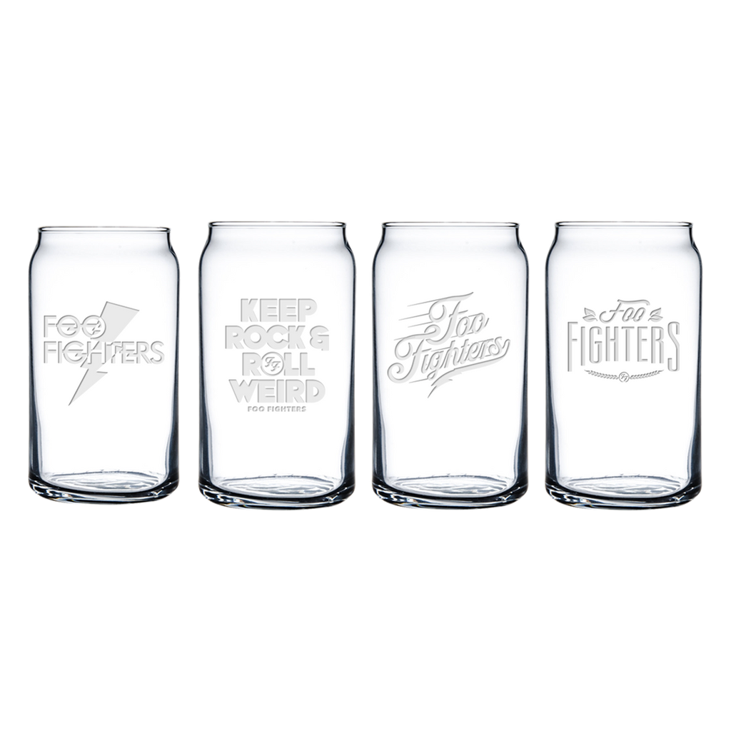 Beer Can Glass 4 Pack